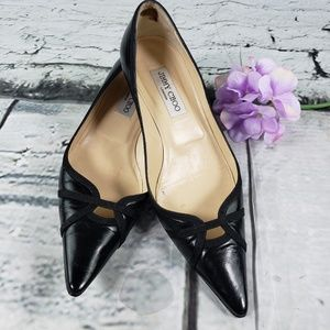 Jimmy Choo Black Kitten Heel Pump 40